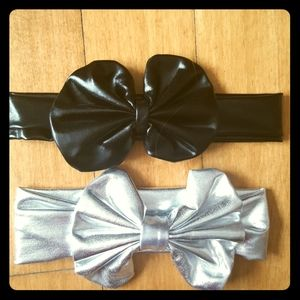 Other - 2 infant headbands black silver